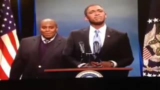 Repeat youtube video SNL Fake Obama Sign Language Interpreter