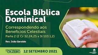 EBD da IPB Cruzeiro dia 12/09/2021