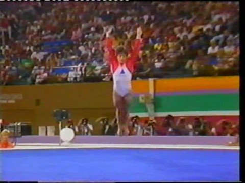 Mary Lou Retton (USA) - 1984 Olympics - Compulsory Floor