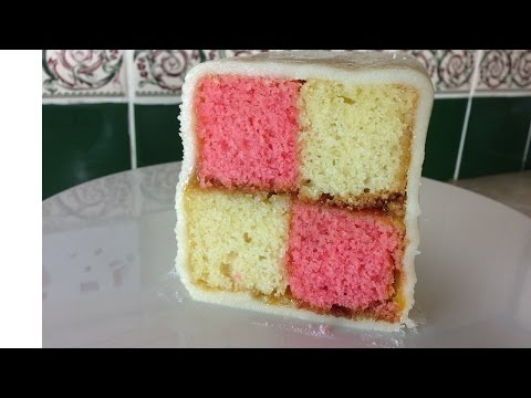 How to make a battenberg cake without a battenberg tin