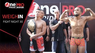 Rudy Gunawan VS Theodorus Ginting FN #30 One Pride Pro Never Quit | Weight-In (27/7/2019)