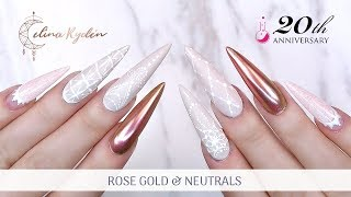 TUTORIAL | ROSE GOLD CHROME AND NEUTRALS | LIGHT ELEGANCE SPRING COLLECTION 2019 | GEL NAILS
