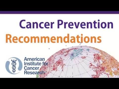 report, New Recommendations and Tools for Cancer Prevention: Launching Diet and Cancer Report