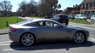 Aston Martin V8 Vantage sound, revs, ride and review!