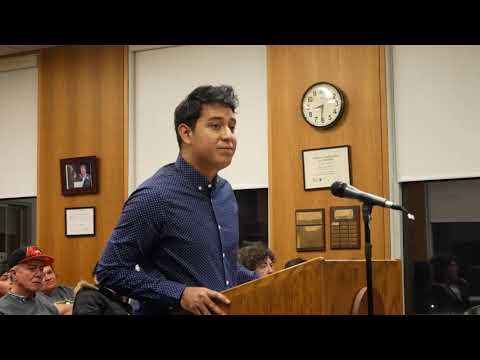 Eduardo Samaniego asks Northampton City Council to support DACA recipients