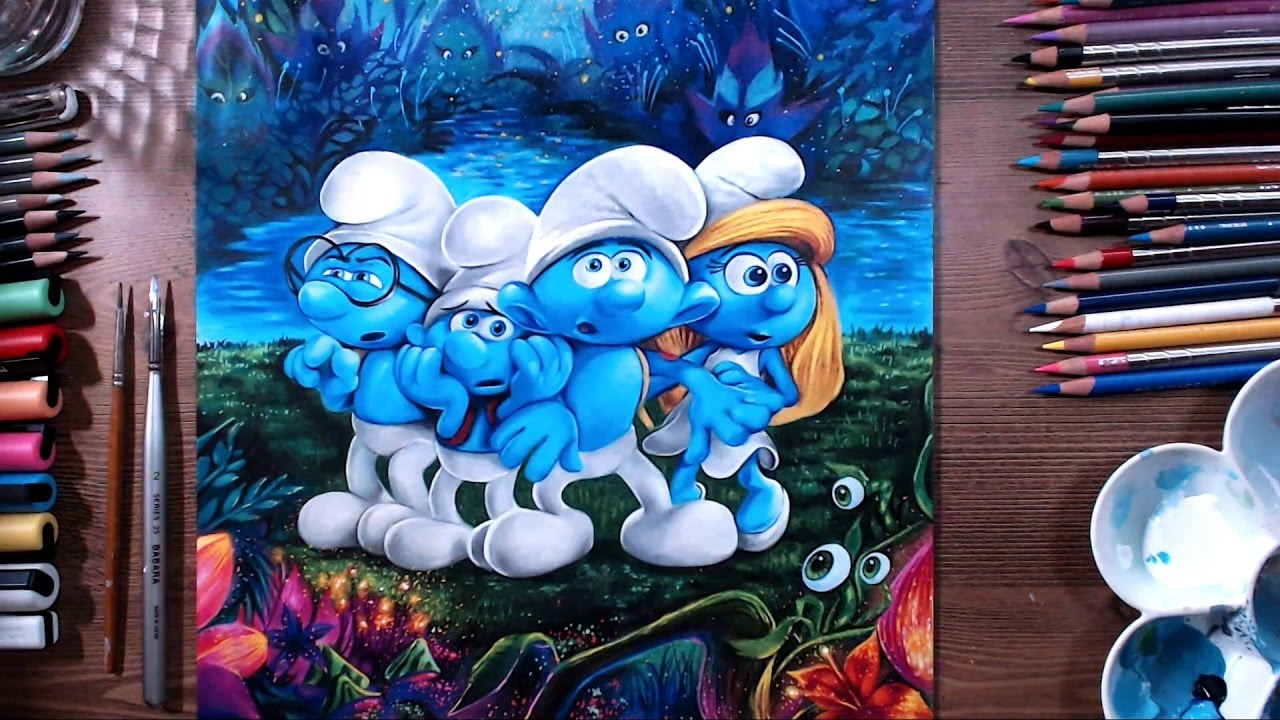 Smurfs the lost village speed drawing drawholic youtube - Hefty smurf the lost village ...
