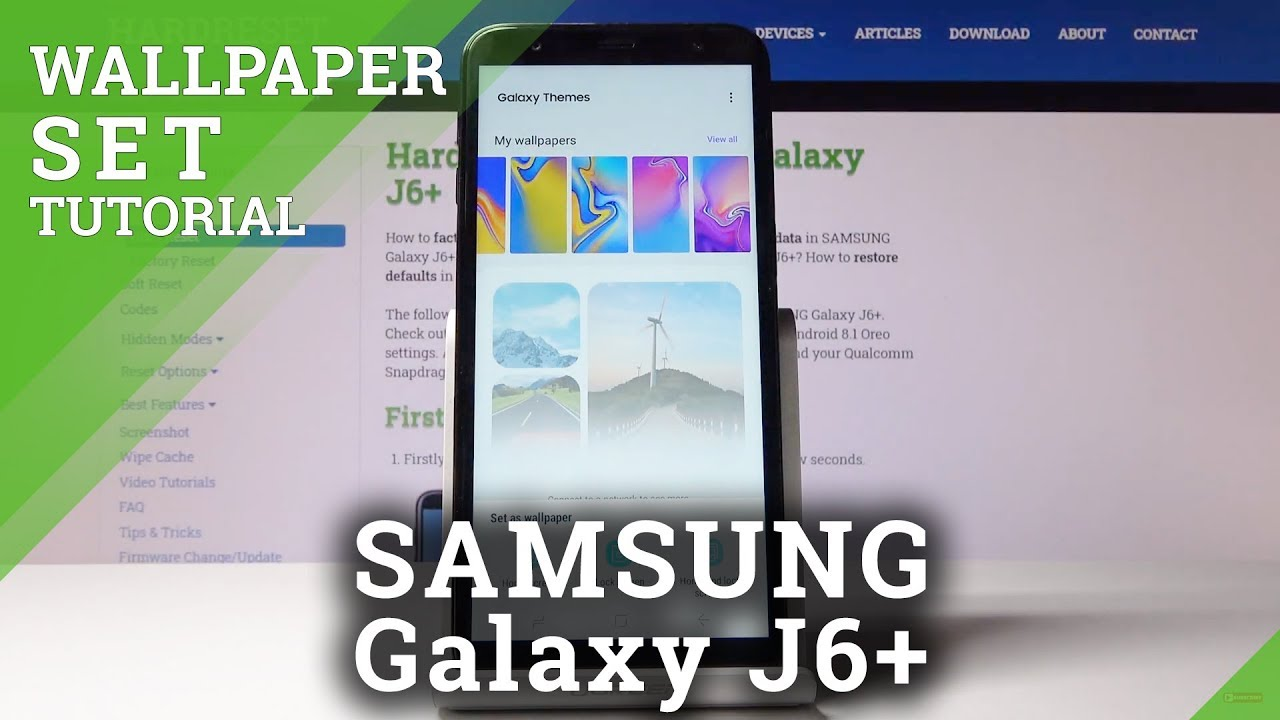 How To Change Wallpaper In Samsung Galaxy J6 Home Screen Youtube