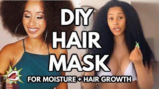 Cardi B Hair Tutorial DIY Hair Mask Recipe For Moisture EXTREME Hair Growth Celebrity Chatfest