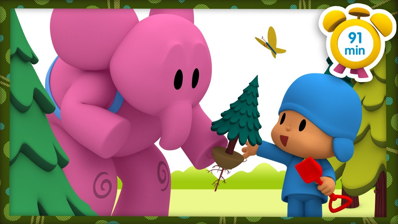 🌳 POCOYO in ENGLISH - Walking in the forest [91 min] | Full Episodes | VIDEOS and CARTOONS for KIDS