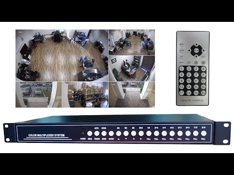 CCTV Video Multiplexer for AHD, HD-TVI, HDCVI, Analog Security Cameras