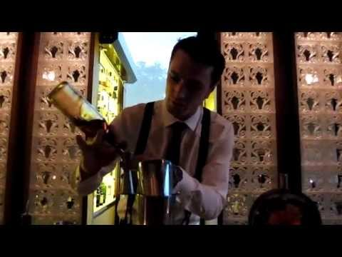 Geneva - Cocktail preparation at Le Fumoir InterContinental