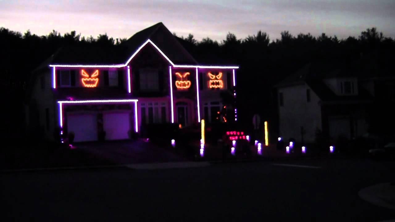 2012 Halloween Light Show - Gangnam Style