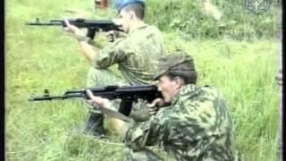 Стрельба. Обучение принятию положения для стрельбы с колена,стрельба с колена .