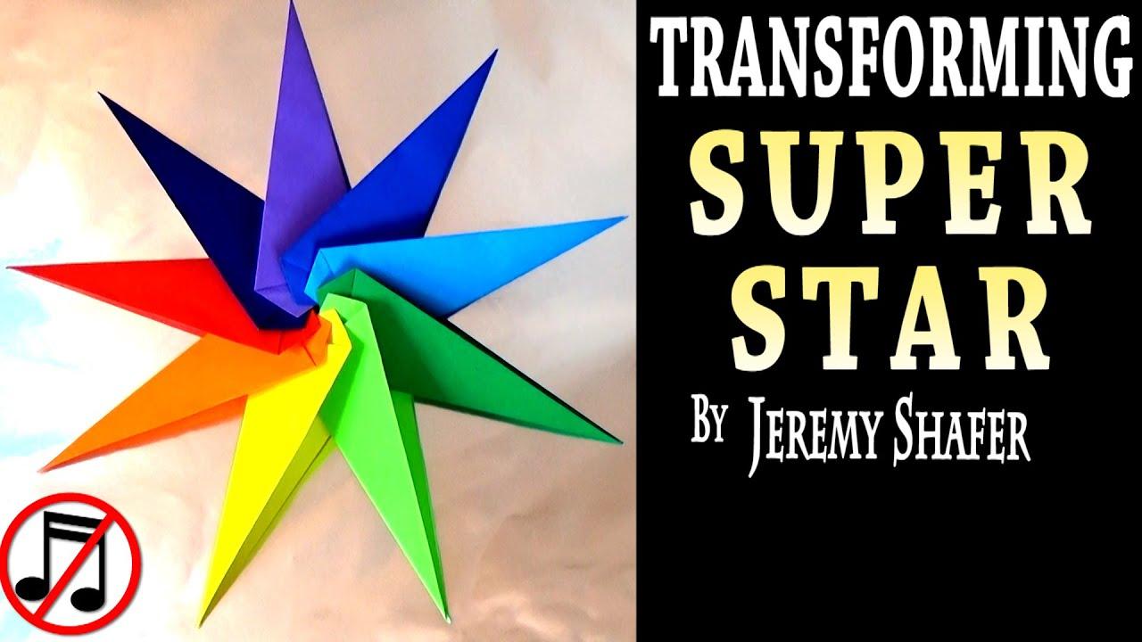 Origami Transforming Super Star No Music Youtube