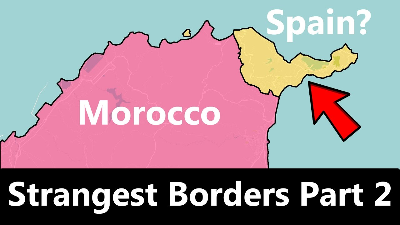 The strangest and most unusual state borders
