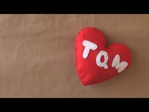 Corazon de fieltro // Plush - Dia del cariño - YouTube