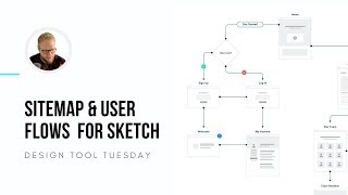 Sitemap And User Flow Design System For Sketch   Design Tool Tuesday, Ep23