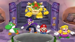 Mario Party 5 - 4 Player Minigames - Yoshi Waluigi Mario Wario Bad Luck All Funny Mini Games