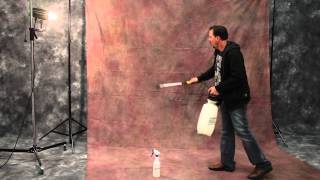 Quickly removing wrinkles from your Muslin Backdrops - Studio Photography Tutorial