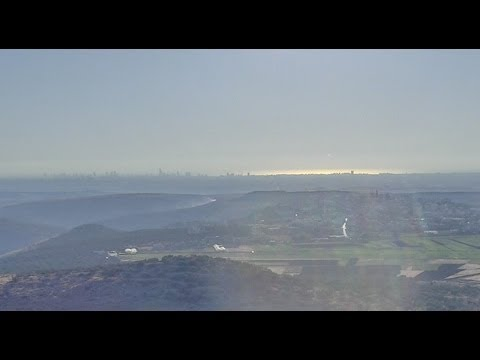 How narrow is Israel?  Watch Tel Aviv sea at sunset from 16miles (26Km) away..from the West Bank