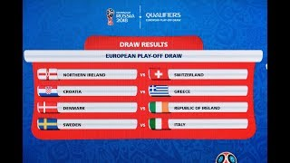 European Play-Off Draw Highlights
