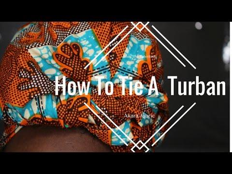 How To Tie A Turban | Ankara
