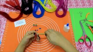 Quilling ( Kağıt Kıvırma Sanatı) ile Baykuş Anahtarlık Yapımı