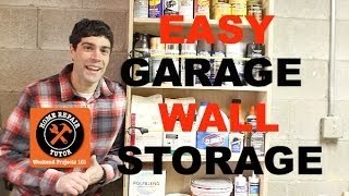 Garage Wall Storage Made Easy -- By Home Repair Tutor
