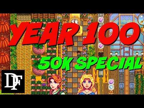 Stardew Valley - Year 100 Farm Tour - 50k Sub Q&A Special + Giveaway!!