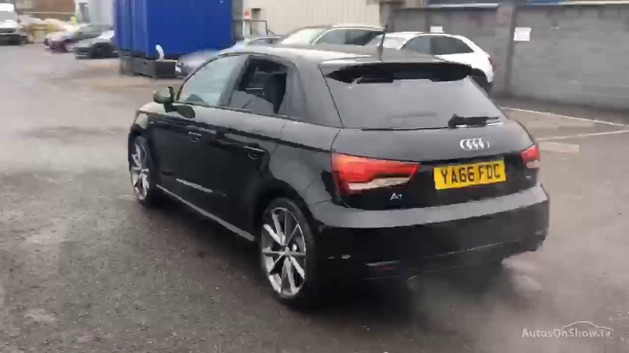audi a1 sportback tdi s line black edition black 2016 youtube. Black Bedroom Furniture Sets. Home Design Ideas