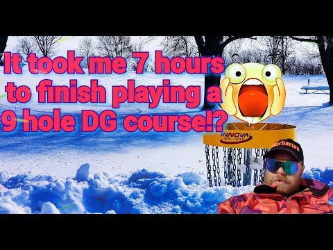 My extreme BS disc golf workout day. 9 holes took 7 HOURS! (quick N rough upload)