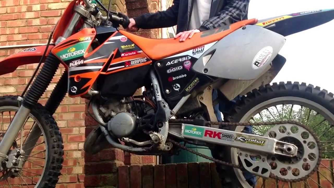 ktm sx 125 1998 havent had running for about 6 months - youtube