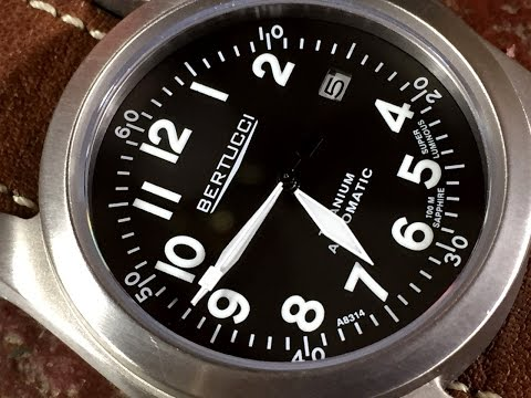 Bertucci  A3-T Navigator Ti-Matic Watch Review