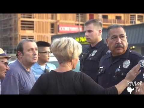 Civilian Protest in Los Angeles Against Armenian Government  VS Glendale Police Forces