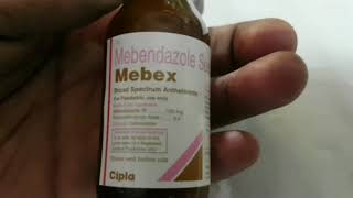 Mebex syrup in hindi an Mebendazole syrup for stomach worms || medicine Health