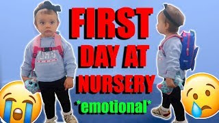 Our Baby's First Day at Nursery *emotional*