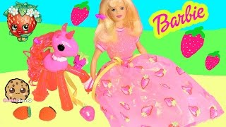 Strawberry Sorbet Barbie Avon Exclusive Special Edition Doll Scented Toys Fun Video Unboxing