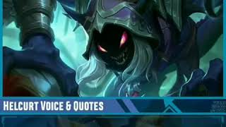Voice and Quotes New Hero Helcurt mobile legends