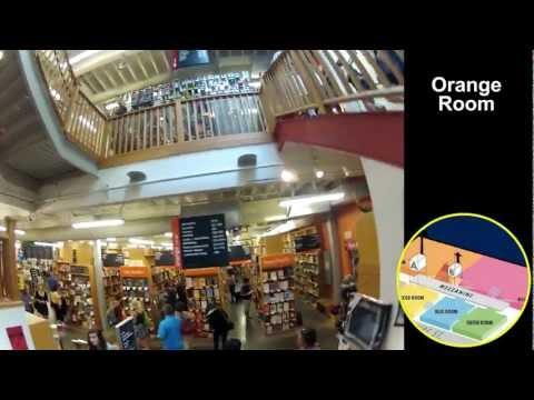 Powell's Books, Portland - Hat-Cam Walkthrough w/ HUD Map Musical Extravaganza Thing 7.26.12