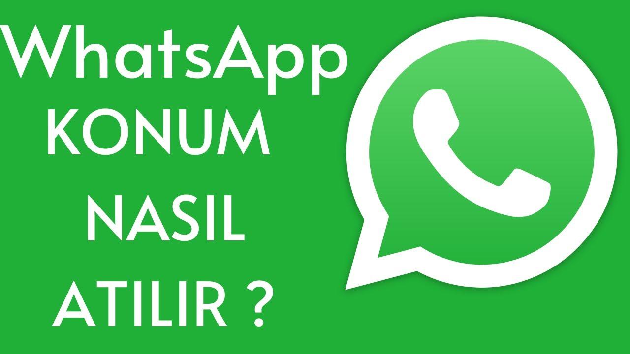 Whatsapp'ta nasıl konum atılır?