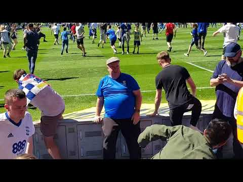 Birmingham City V Fulham - Full Time Whistle and Pitch Invasion