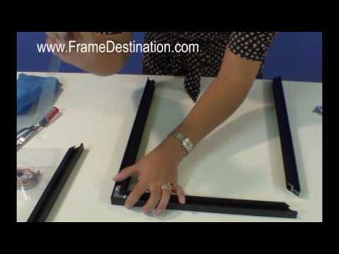 metal picture frame assembly for frame destination picture frames