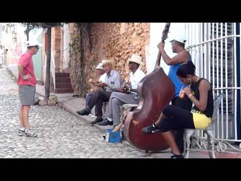 Cuban street band seen in Trinidad Cuba