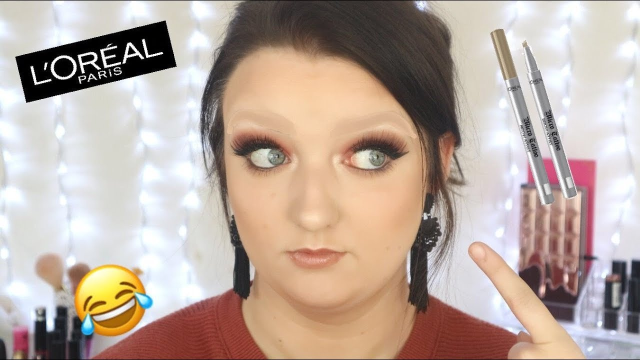 Omg New Loreal Microbladed Brow Tattoo Does It Work Youtube