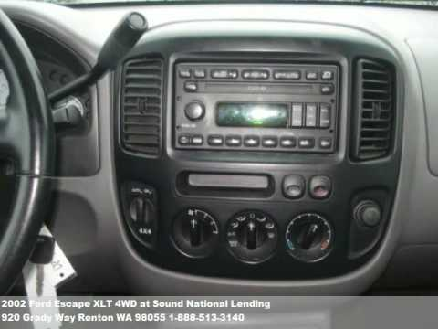 2002 ford escape xlt 4wd 8771 at sound national lending. Black Bedroom Furniture Sets. Home Design Ideas