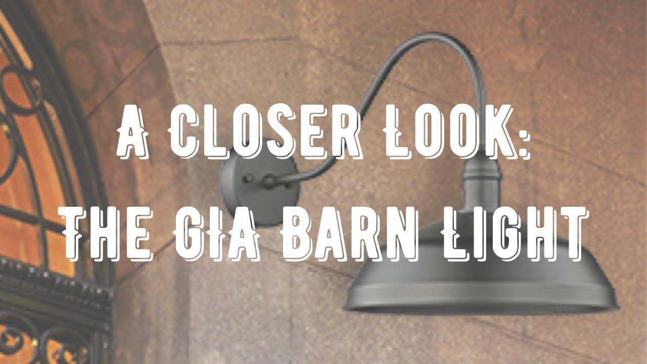 Gia 1 Light 20 Large Gooseneck Outdoor Barn Light Wall Sconce Wall Light Outdoor Vivio Lighting