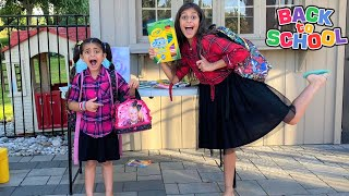 Deema and Sally Play Shopping for Back To School Supplies