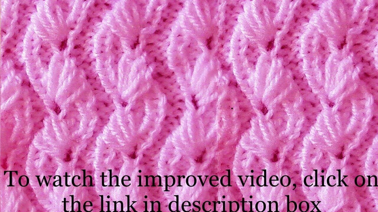 89ae5a7c5 Almond Design knitting - YouTube