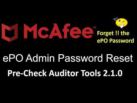 McAfee ePO Reset Admin Password Pre Check Tools