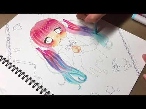 初投稿ゆめかわいい女の子描いてみた Youtube